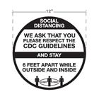 "Image of 12"" Round Social Distancing Floor Decals"