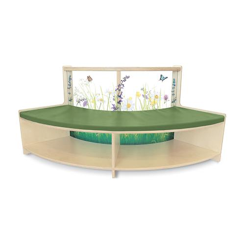 Whitney Brothers Nature View Curved Sofas