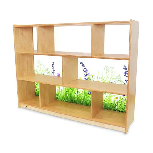 Whitney Brothers Nature View Acrylic Back Cabinets