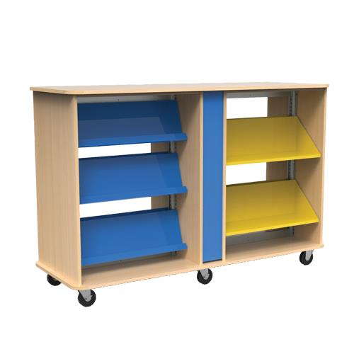 Brodart Quarx Mobile Double-Faced 2-Bay Combo Shelving