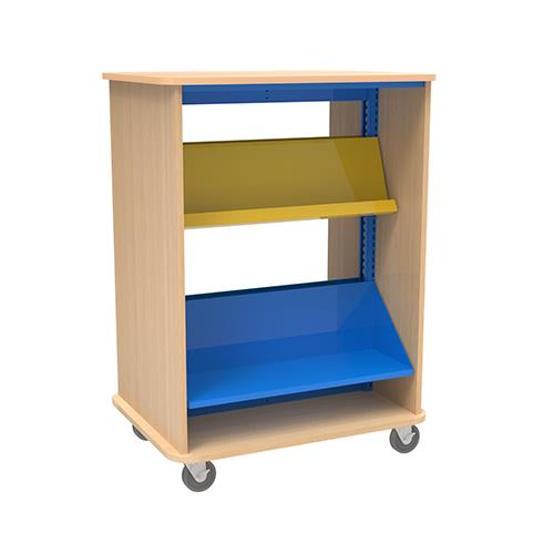 Brodart Quarx Mobile Double-Faced 1-Bay Combo Shelving