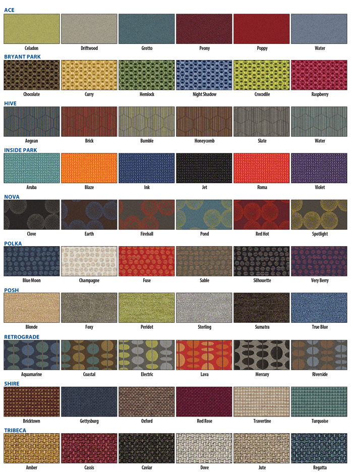 Brodart Fabric Colors 2018