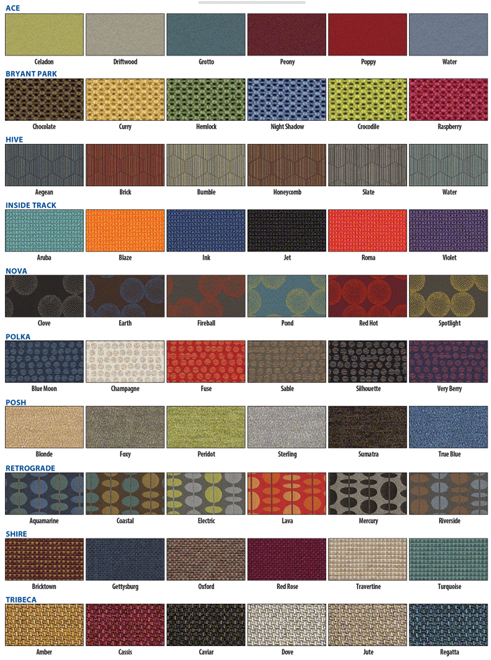 Brodart Fabric Colors 2020