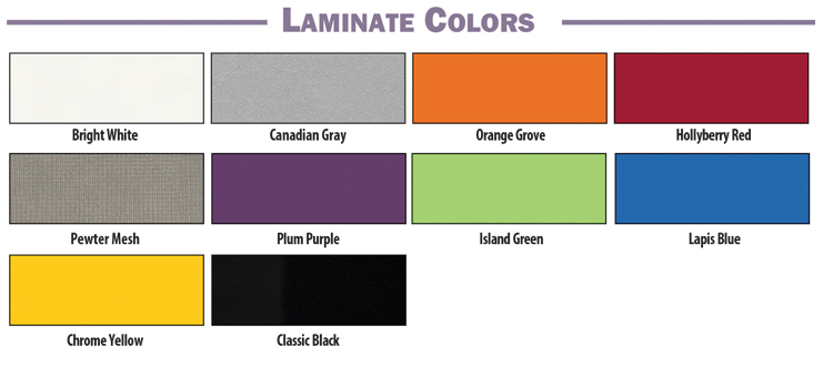 Brodart Quarx Laminate Colors