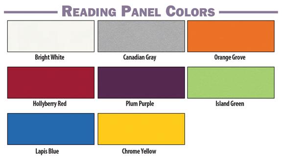 Brodart Quarx Reading Panel Colors