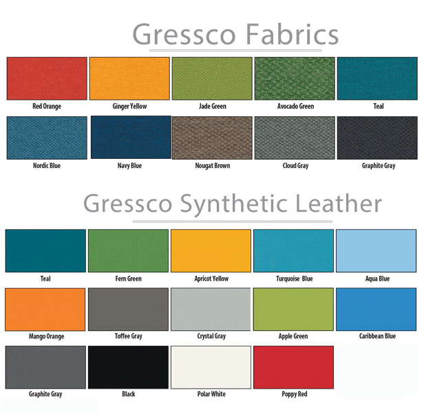 Gressco Optional Second Fabrics or Synthetic Leath