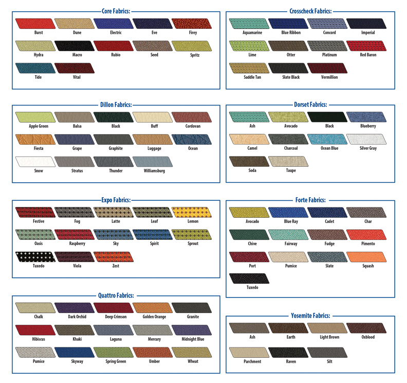 HPFI 2019 Optional Fabric Color