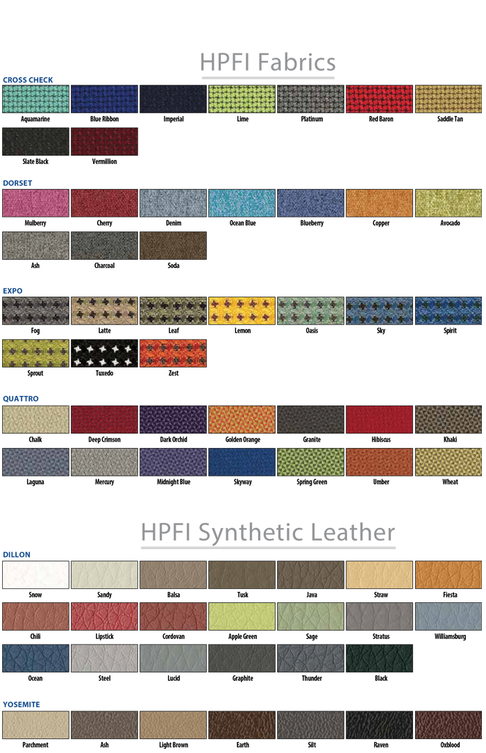 HPFI 2021 Fabric Color