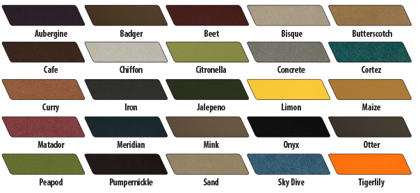 Paragon Booth Fabric Colors