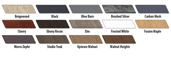 Waddell Vantage Laminate Finishes