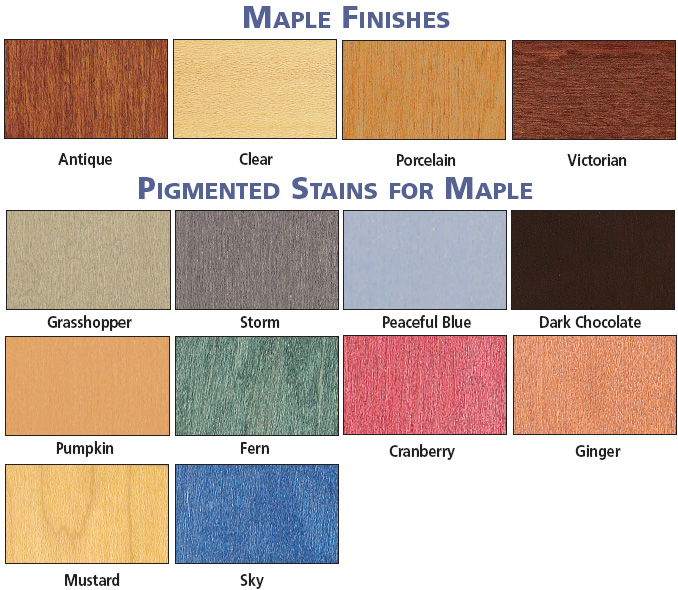 Brodart Maple Finish or Pigmented Stains for Maple