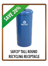 Safco® Tall Round Recycling Receptacle
