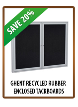 Ghent Recycled Rubber Enclosed Tackboards