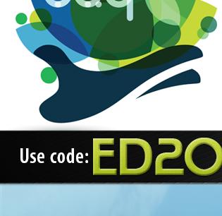 Use code: ED20