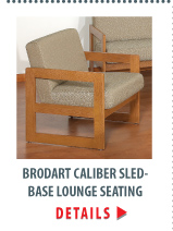 Brodart Caliber Sled-Base Lounge Seating