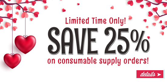LUV25 is Here with 25% OFF Supplies Order!