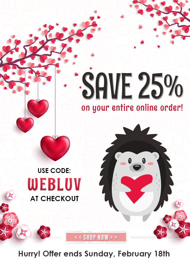WEBLUV Save 25% OFF Entire Cart, Ends February 18th, 2018