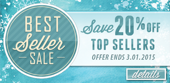 Save with 20% OFF Best Seller Sale Category! Expires 03/01/2015!