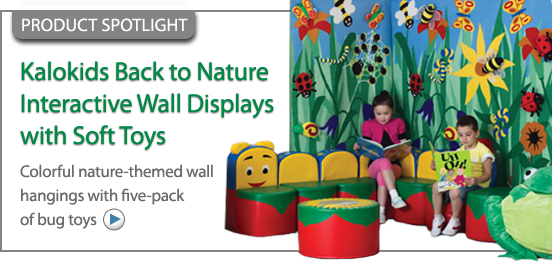 Kalokids Back To Nature Interactive Wall Displays with Soft Toys!