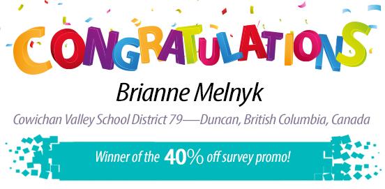 Congratulations Brianne Melnyk