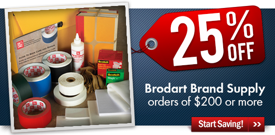 Save 25% OFF Brodart Brand Supplies!