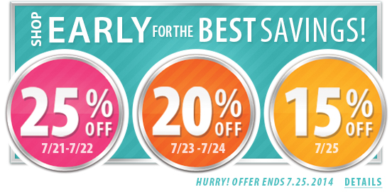 Shop Early Save More!