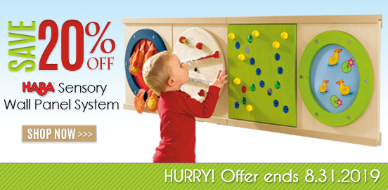 Save 20% on HABA Sensory Wall Panel System! Offer Ends 08/31/2019