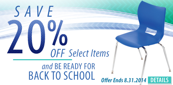 Save 20% on Select Items for Back to School Savings! BTS20