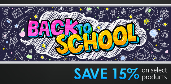Save 15% on Select Items for Back to School Savings! BTS15