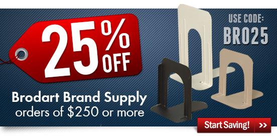 Save 25% OFF Brodart Brand Supplies!
