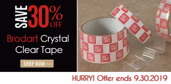 Save 30% on Brodart Crystal Clear Tape! Offer Ends 09/30/2019