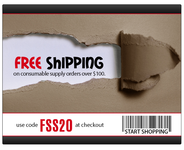 Free Ground Shipping on Supply Orders of $100 or More! Sale ends 9/23/2020