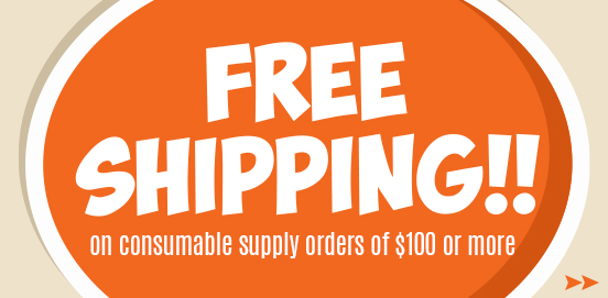 Save with Free Shipping with Supply Orders of $100 or More!  Some Exclusions apply. Offer Ends 9/22/2019