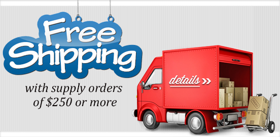 Sale Extended! Save with Free Shipping with Supply Orders of $250 or More!  Some Exclusions apply. Offer Ends 09/25/2016