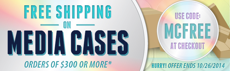 Free Ground Shipping on Media Cases of $300 or More!