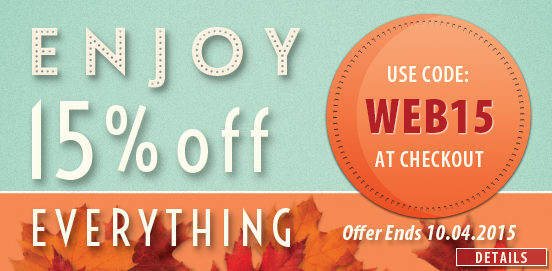 15% OFF Everything; Uses Code WEB15, Ends 12/08/13