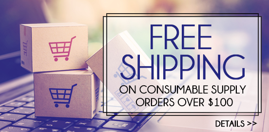 Save with Free Shipping with Supply Orders of $100 or More!  Some Exclusions apply. Offer Ends 11/25/2018