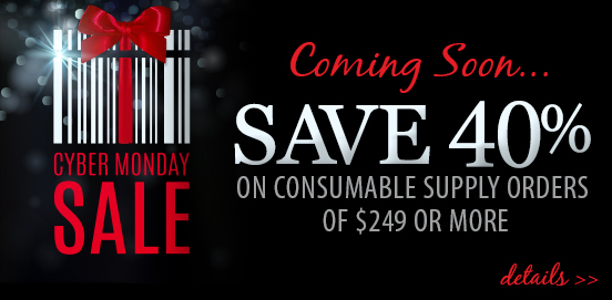 Save 40% OFF Supply Orders when you Spend $249 or More! Offer ends at midnight, November 27 2017!