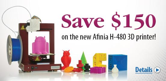 Save $150 OFF the Afinia 3D Printer! Offer ends December 31 2014!