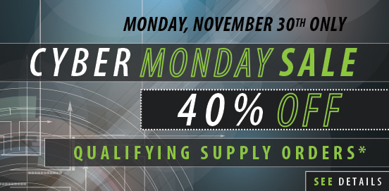 Save 40% on Supply Orders of $500 or More!  Some Exclusions apply. Offer Ends 11/30/2015 Midnight