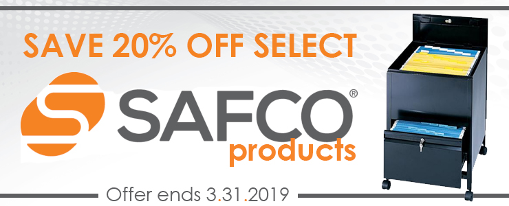 Save 20% OFF Safco Sale, Ends March 31, 2019