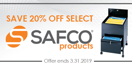 Save on Select Safco Products from now through March 31st