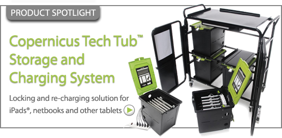 Copernicus Tech Tub Storage and Charging System!