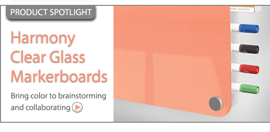 Harmony Clear Glass Markerboards!
