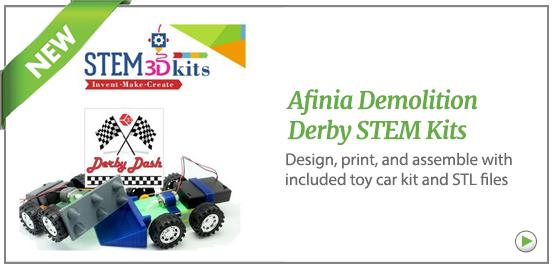 Afinia Demolition Derby STEM kit