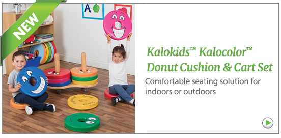 Kalokids Kalocolor Donut cushion and cart set