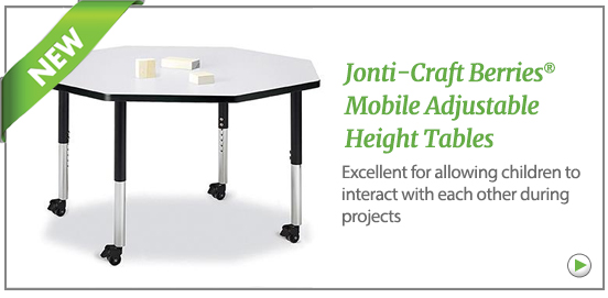 Jonti-Craft Berries Mobile Adjustable Height Tables