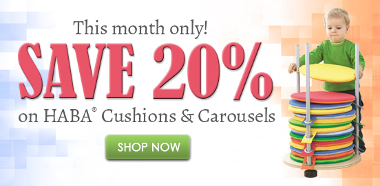 Save 20% on HABA Cushions & Carousels! Offer Ends 05/31/2018