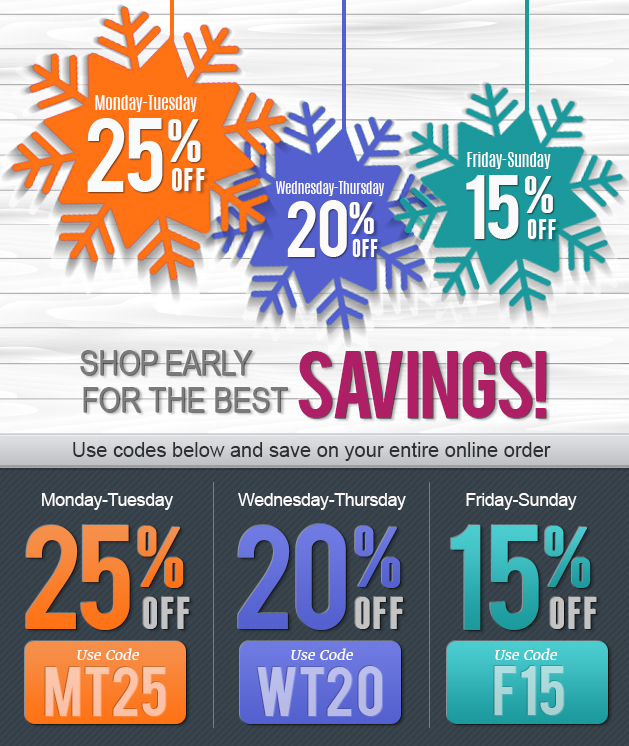 Shop Early Save More Event!