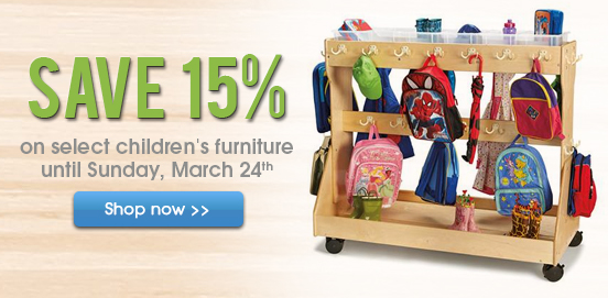 Save 15% OFF Select Children's Furniture!
